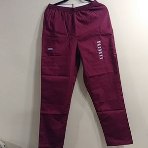 Cherokee Workwear small maroon scrub pants